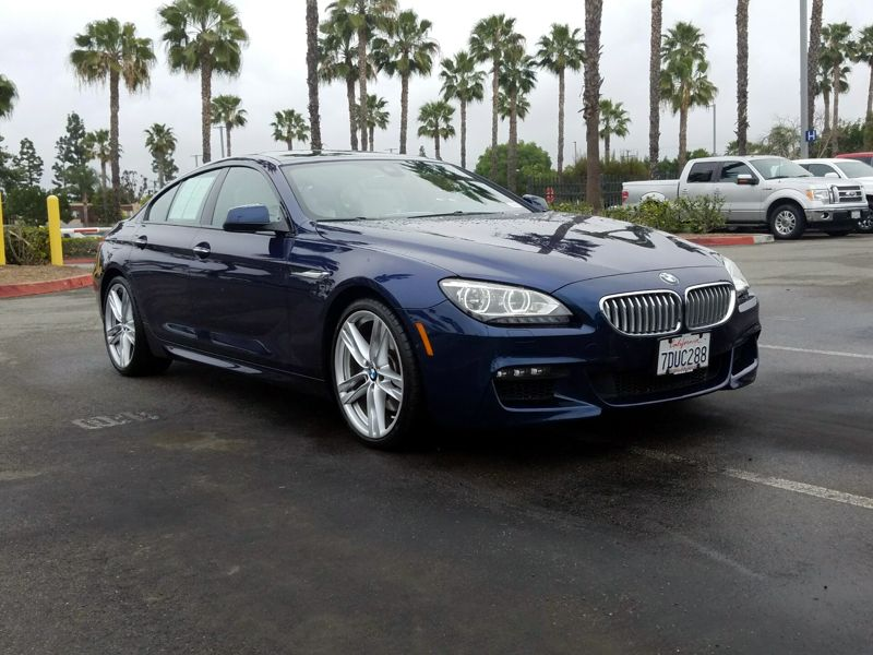 Blue 2014 BMW 650 I Gran Coupe For Sale in Los Angeles, CA