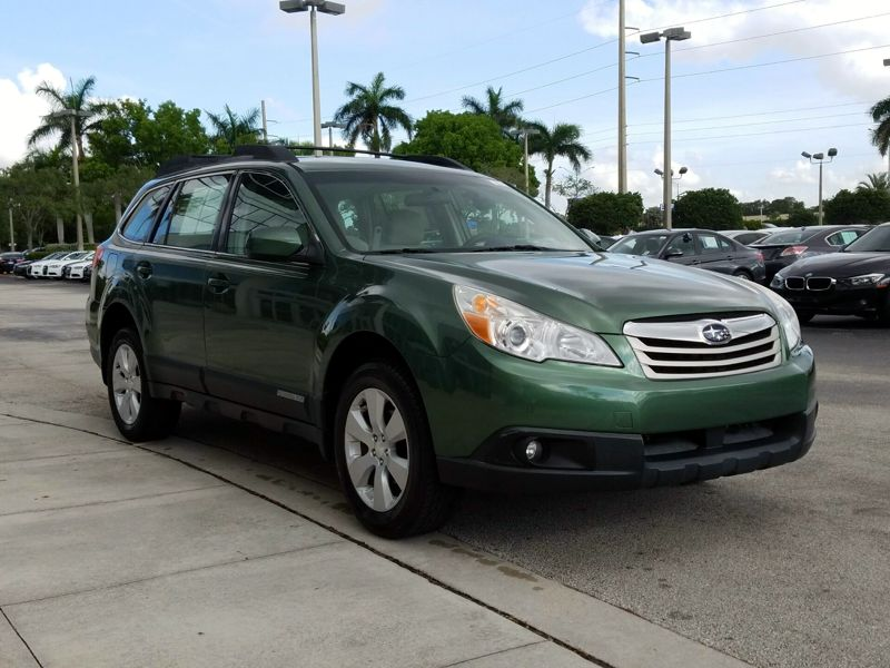Green 2012 Subaru Outback 2.5i For Sale in Pompano Beach, FL