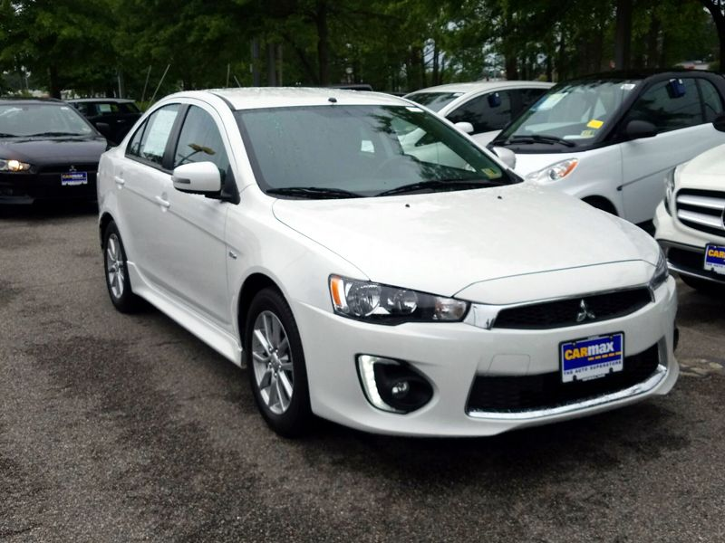 White 2016 Mitsubishi Lancer ES For Sale in Laurel, MD