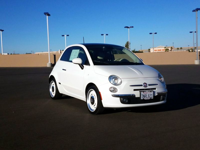 White 2015 Fiat 500 1957 Edition For Sale in Los Angeles, CA