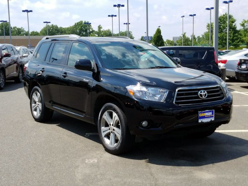 Black 2008 Toyota Highlander Sport For Sale in Frederick, MD