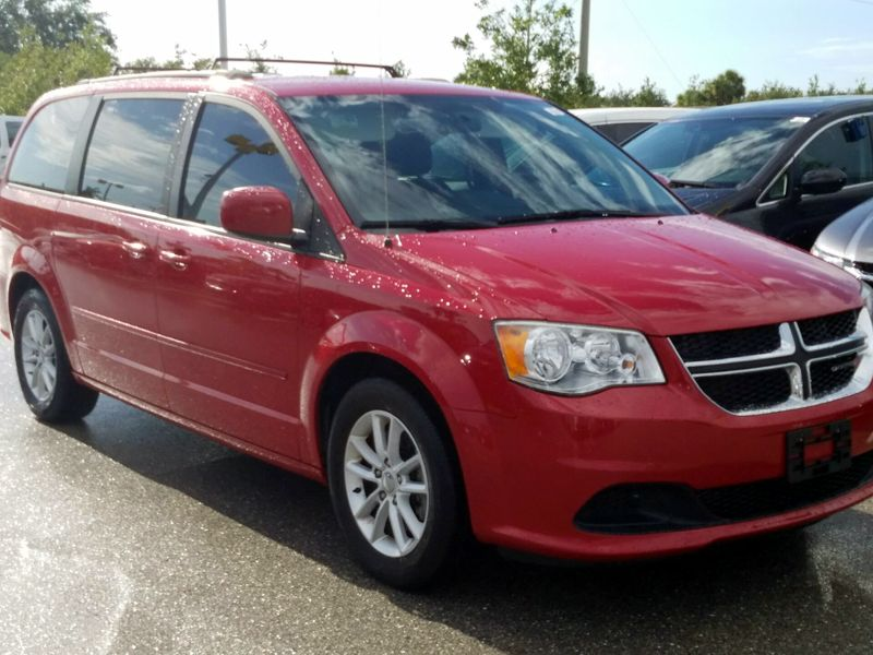 Red 2014 Dodge Grand Caravan SXT For Sale in Sanford, FL