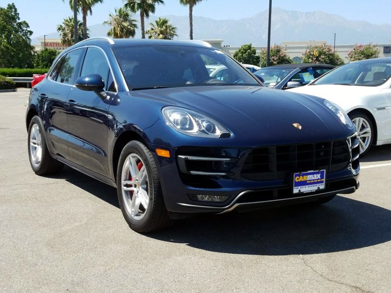 Blue 2015 Porsche Macan Turbo For Sale in Las Vegas, NV