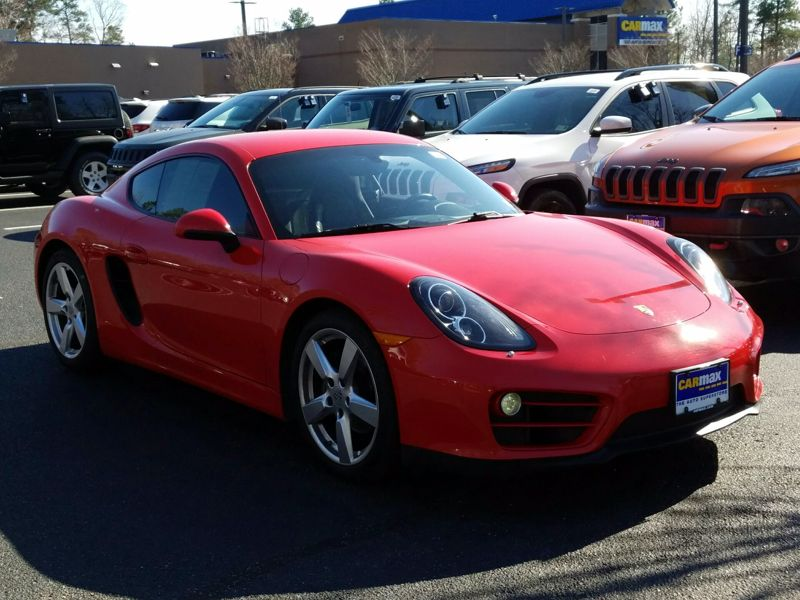 Red 2014 Porsche Cayman For Sale in White Marsh, MD