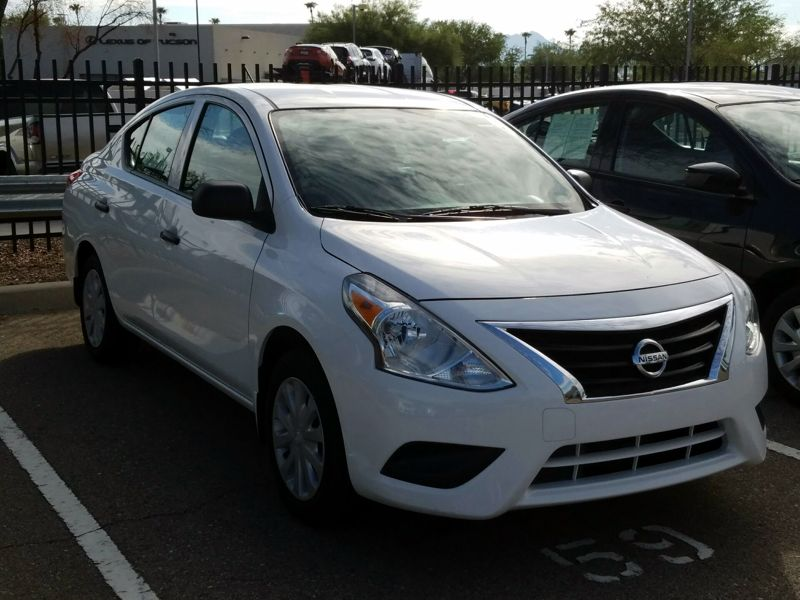 White 2015 Nissan Versa S For Sale in Tucson, AZ