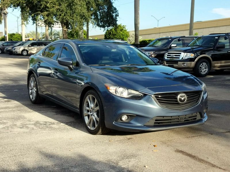Blue 2014 Mazda Mazda6 I Grand Touring For Sale in Pompano Beach, FL