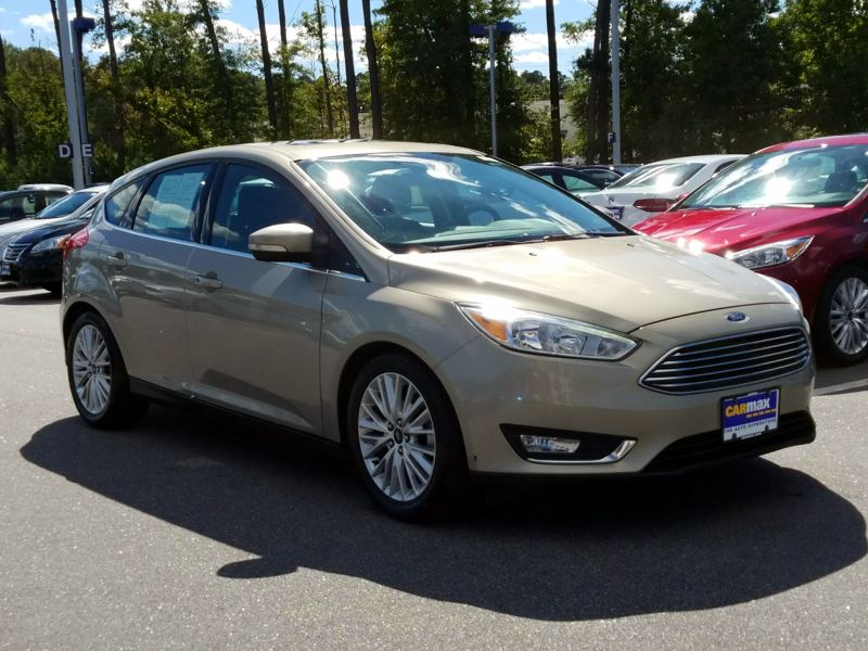 Gold 2015 Ford Focus Titanium For Sale in Raleigh, NC