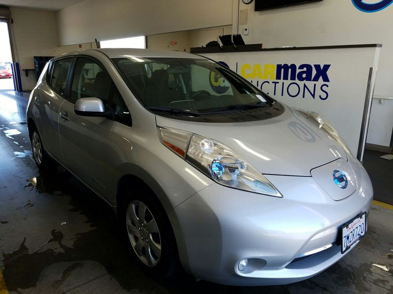 Silver 2013 Nissan Leaf S For Sale in Costa Mesa, CA
