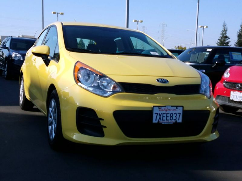 Yellow 2016 Kia Rio5 LX For Sale in San Jose, CA