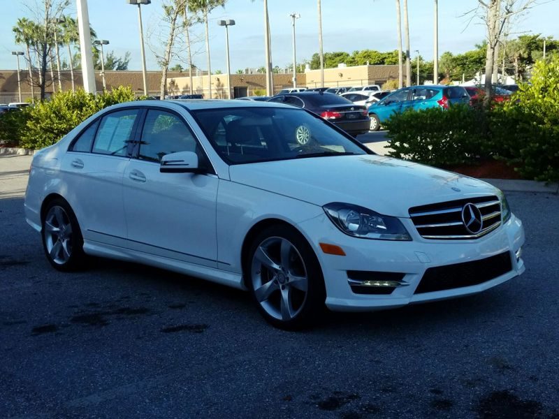 White 2014 Mercedes-Benz C250 Sport For Sale in Boynton Beach, FL