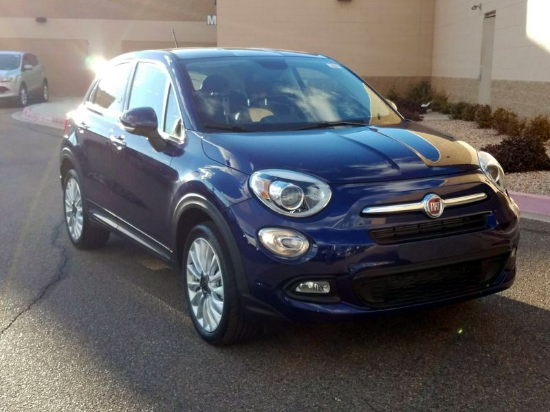 used fiat 500x blue exterior in naperville, il